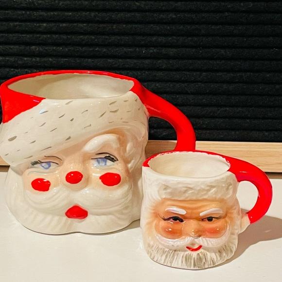 Vintage Ceramic Santa Mug Collection❤️🎄
